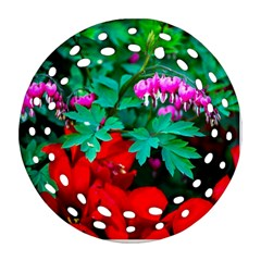 Bleeding Heart Flowers Ornament (round Filigree)