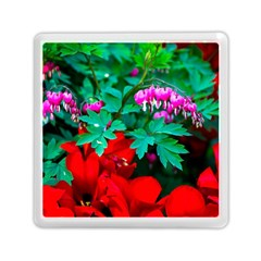 Bleeding Heart Flowers Memory Card Reader (square) by FunnyCow