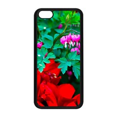 Bleeding Heart Flowers Apple Iphone 5c Seamless Case (black) by FunnyCow