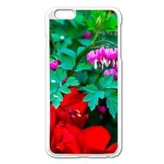 Bleeding Heart Flowers Apple Iphone 6 Plus/6s Plus Enamel White Case by FunnyCow