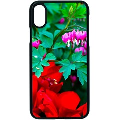 Bleeding Heart Flowers Apple Iphone X Seamless Case (black)