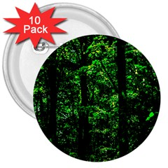 Emerald Forest 3  Buttons (10 Pack)  by FunnyCow