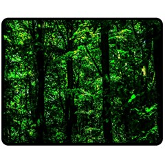 Emerald Forest Fleece Blanket (medium)  by FunnyCow