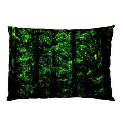 Emerald Forest Pillow Case (two Sides) by FunnyCow