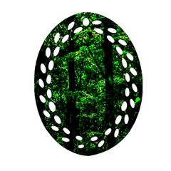 Emerald Forest Oval Filigree Ornament (two Sides) by FunnyCow