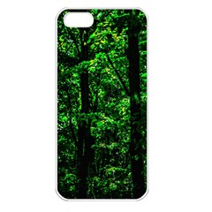 Emerald Forest Apple Iphone 5 Seamless Case (white) by FunnyCow