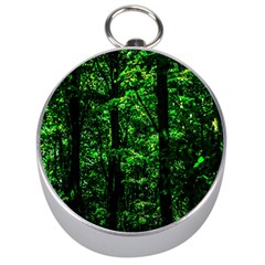 Emerald Forest Silver Compasses