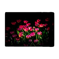 Pink Tulips Dark Background Apple Ipad Mini Flip Case by FunnyCow