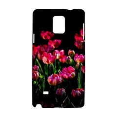 Pink Tulips Dark Background Samsung Galaxy Note 4 Hardshell Case