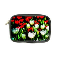 White And Red Sunlit Tulips Coin Purse by FunnyCow