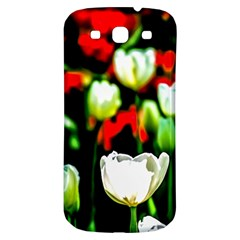 White And Red Sunlit Tulips Samsung Galaxy S3 S Iii Classic Hardshell Back Case by FunnyCow