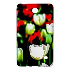 White And Red Sunlit Tulips Samsung Galaxy Tab 4 (8 ) Hardshell Case  by FunnyCow