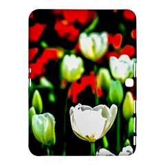 White And Red Sunlit Tulips Samsung Galaxy Tab 4 (10 1 ) Hardshell Case  by FunnyCow