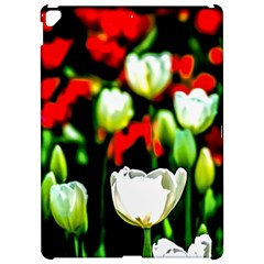 White And Red Sunlit Tulips Apple Ipad Pro 12 9   Hardshell Case by FunnyCow