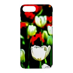 White And Red Sunlit Tulips Apple Iphone 7 Plus Hardshell Case