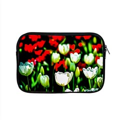 White And Red Sunlit Tulips Apple Macbook Pro 15  Zipper Case by FunnyCow