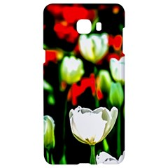 White And Red Sunlit Tulips Samsung C9 Pro Hardshell Case