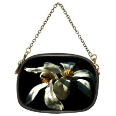 Two White Magnolia Flowers Chain Purses (two Sides)