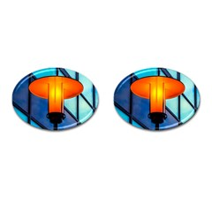 Orange Light Cufflinks (oval) by FunnyCow