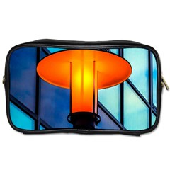 Orange Light Toiletries Bags by FunnyCow