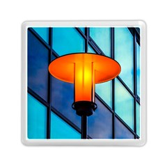 Orange Light Memory Card Reader (square) by FunnyCow