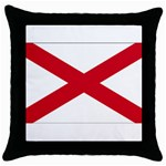 Alabama State Flag -  Throw Pillow Case (Black)