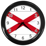 Alabama State Flag -  Wall Clock (Black)