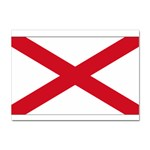 Alabama State Flag -  Sticker A4 (10 pack)