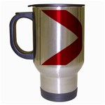 Alabama State Flag -  Travel Mug (Silver Gray)