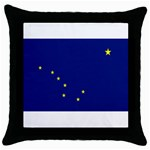 Alaska State Flag -  Throw Pillow Case (Black)