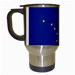 Alaska State Flag -  Travel Mug (White)