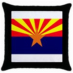 Arizona State Flag -  Throw Pillow Case (Black)