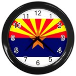 Arizona State Flag -  Wall Clock (Black)