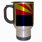 Arizona State Flag -  Travel Mug (Silver Gray)