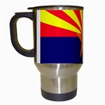 Arizona State Flag -  Travel Mug (White)