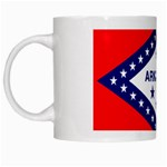 Arkansas State Flag-  White Mug