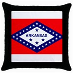 Arkansas State Flag-  Throw Pillow Case (Black)
