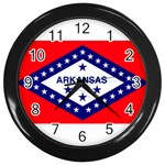 Arkansas State Flag-  Wall Clock (Black)