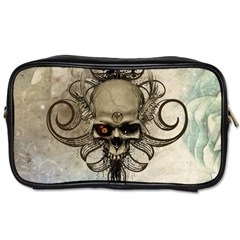 Awesome Creepy Skull With  Wings Toiletries Bags