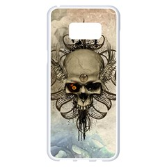Awesome Creepy Skull With  Wings Samsung Galaxy S8 Plus White Seamless Case