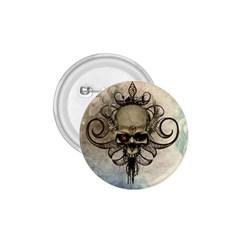 Awesome Creepy Skull With  Wings 1 75  Buttons