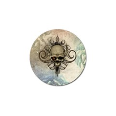 Awesome Creepy Skull With  Wings Golf Ball Marker (4 Pack) by FantasyWorld7