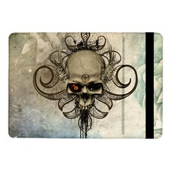 Awesome Creepy Skull With  Wings Samsung Galaxy Tab Pro 10 1  Flip Case