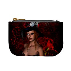 Beautiful Fantasy Women With Floral Elements Mini Coin Purses