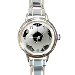 SOCCER BALL ROUND ITALIAN CHARM WATCH