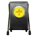 New Mexico State Flag -  Pen Holder Desk Clock
