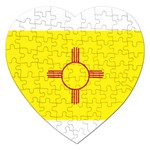 New Mexico State Flag -  Jigsaw Puzzle (Heart)