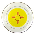 New Mexico State Flag -  Porcelain Plate