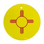 New Mexico State Flag -  Round Ornament (Two Sides)