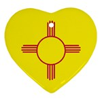 New Mexico State Flag -  Heart Ornament (Two Sides)